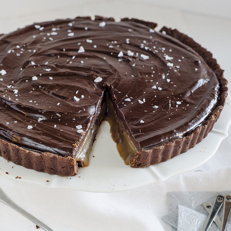 ... this chocolate tart with seasalt caramel filling really hits the mark