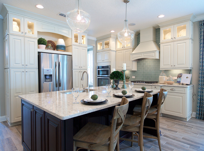 Teal Blue Kitchen Cabinets Lakeside At Nocatee | Mattamy Homes | House Of Turquoise