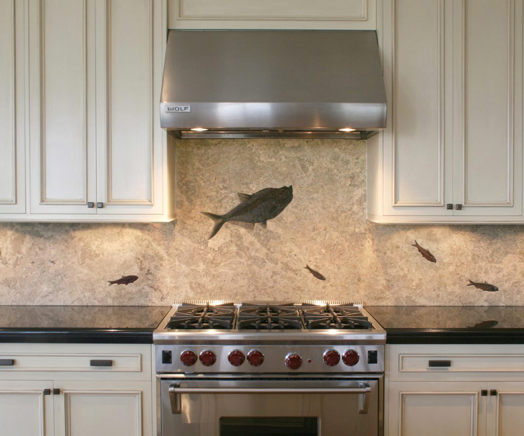 Matching Backsplash To Countertop Custom Fossil Backsplashes Countertops And More House Of