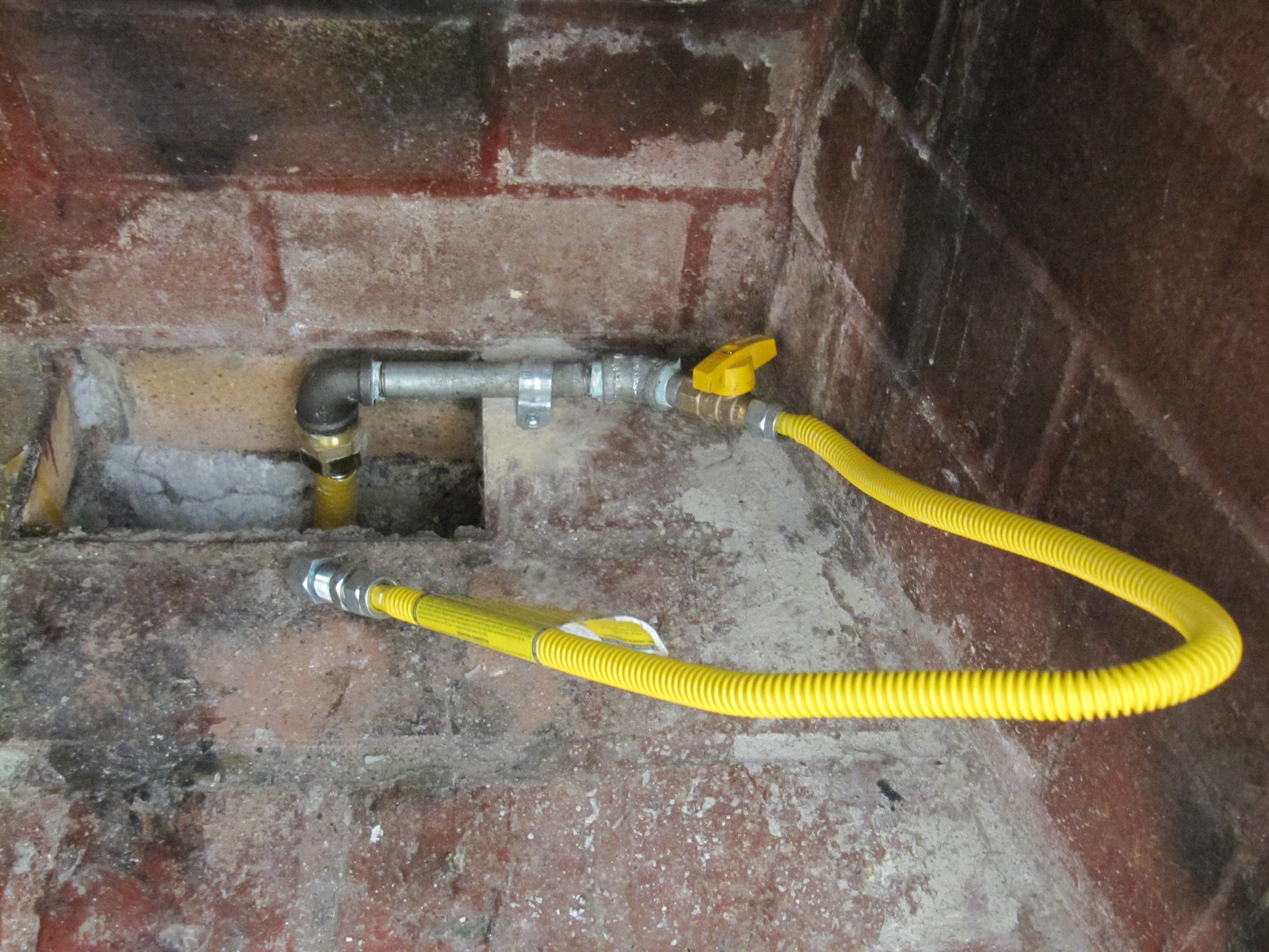 Running Gas Line To Fireplace Gas Line Running Fireplace