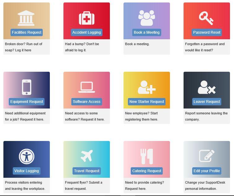 Service Desk Service Catalog Examples
