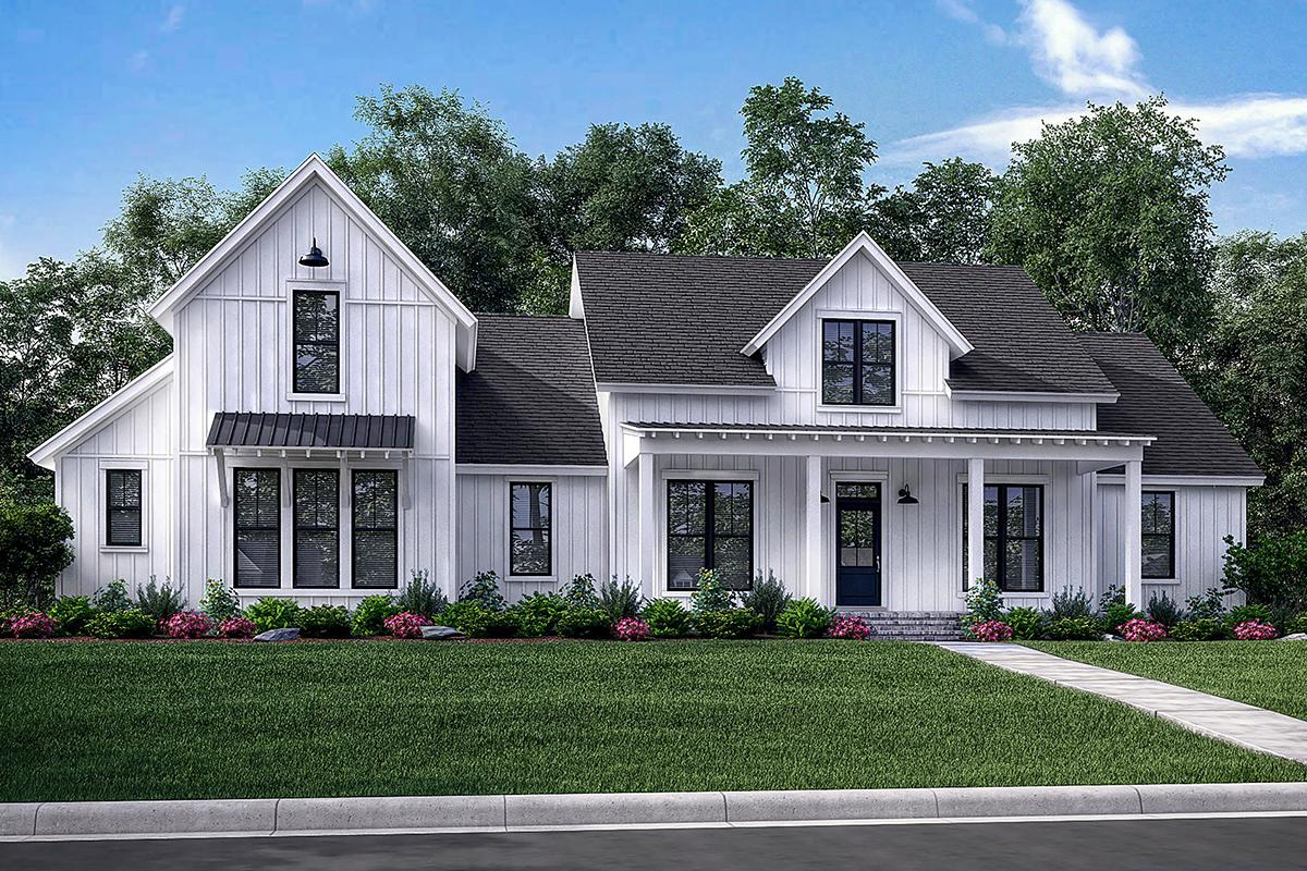 Farmhouse Architecture Features Modern Farmhouse Plan 2 742 Square Feet 4 Bedrooms 3 5