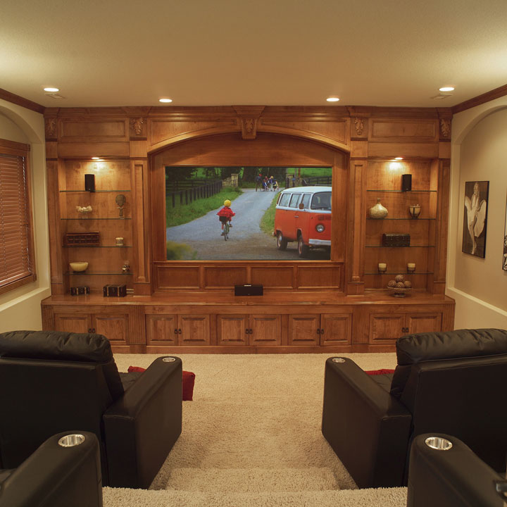 Media Rooms With Basement