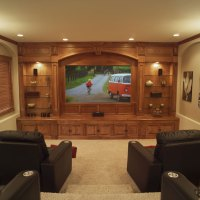 Media Rooms With Basement - Country Home Design Ideas