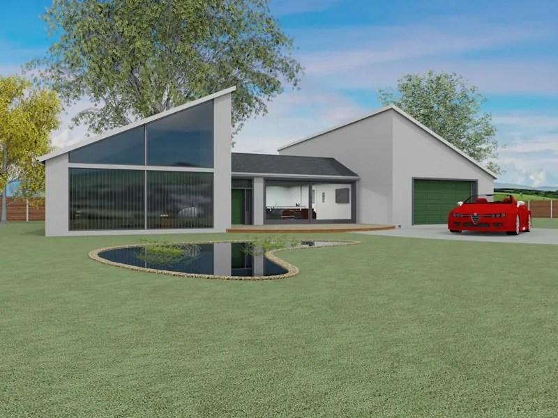 Single storey modern house design the felton for Single storey house plans uk