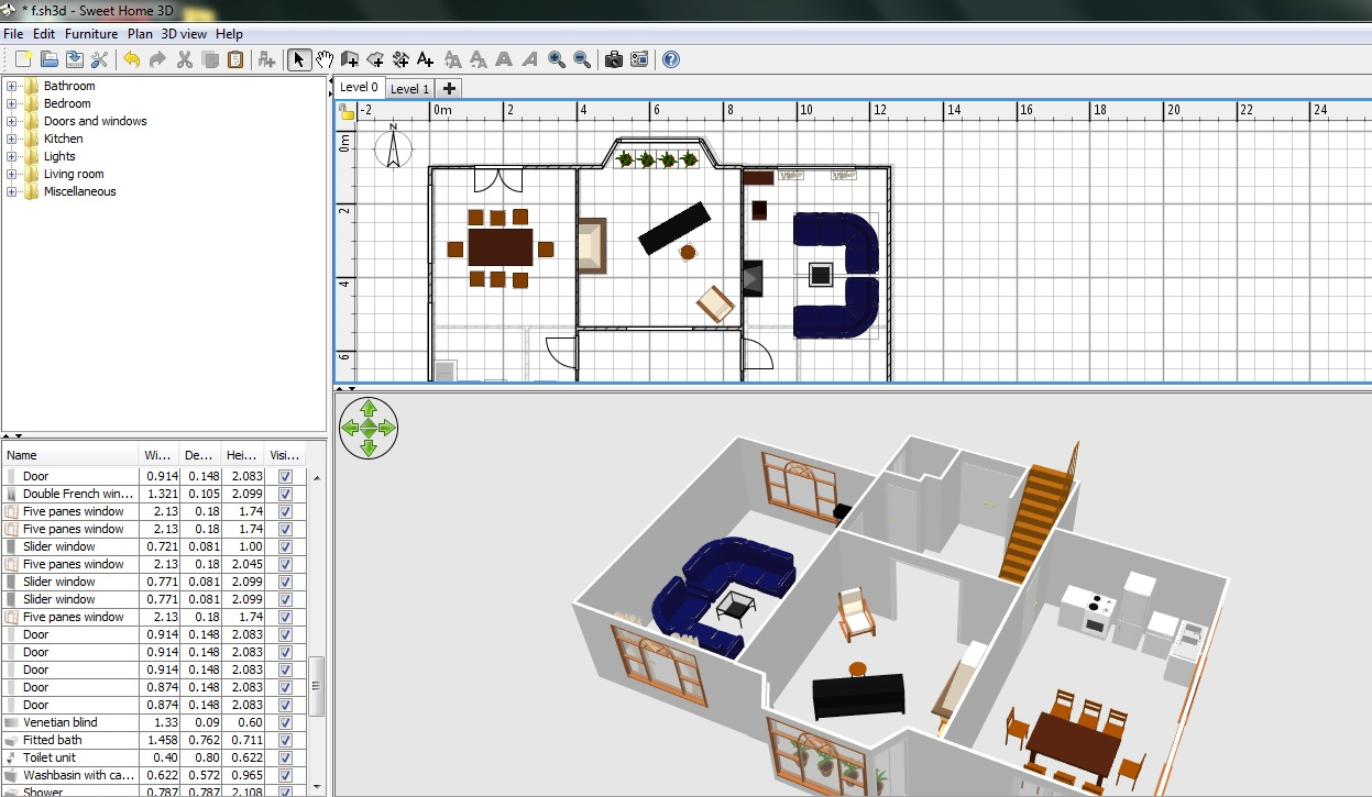 Home 3d Free Floor Plan Software Sweethome3d Review