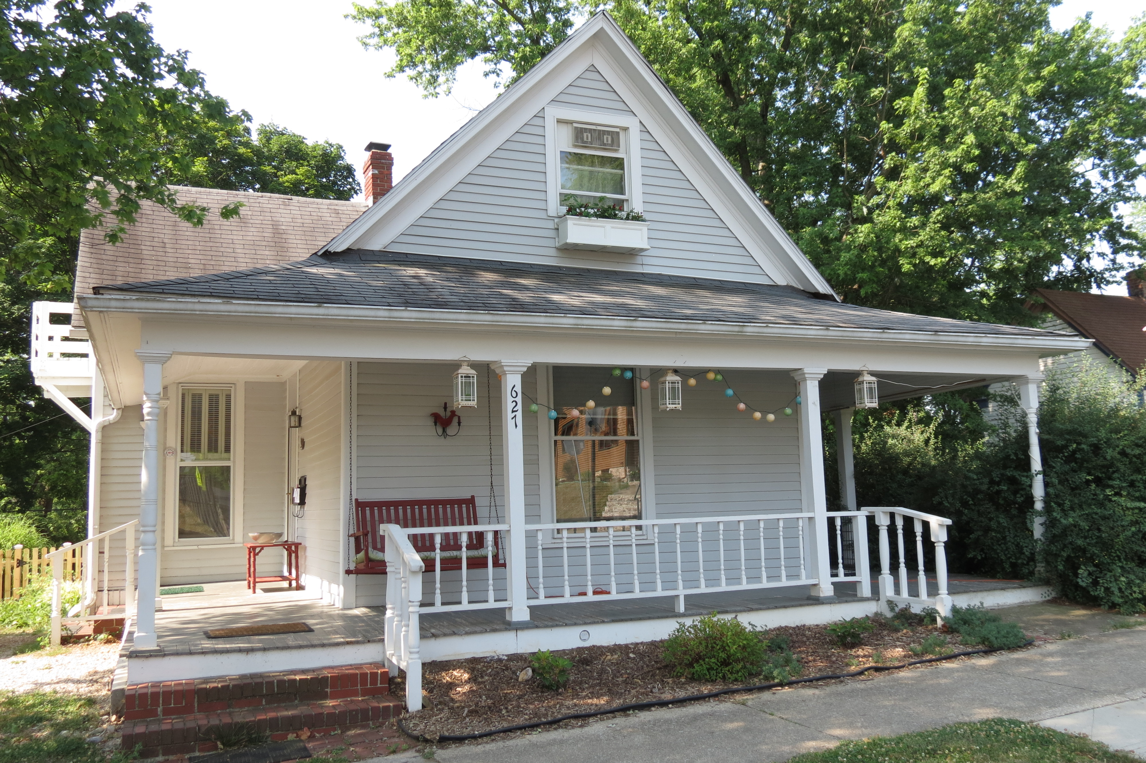 French Country Small House With Wrap Around Porch Living The Good Life In A Bloomington Cottage Housesandbooks