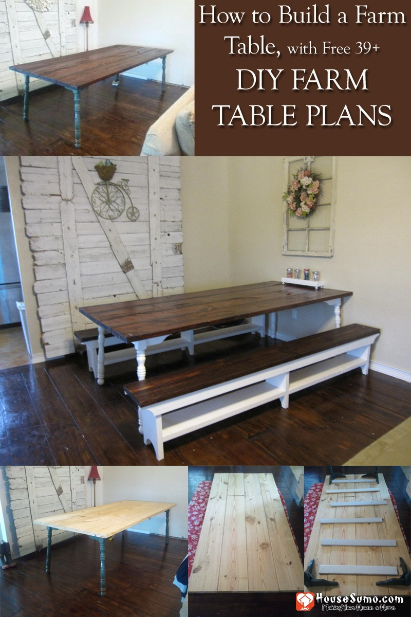 How To Build A Farm Table With Free 39 Diy Farm Table Plans And Ideas