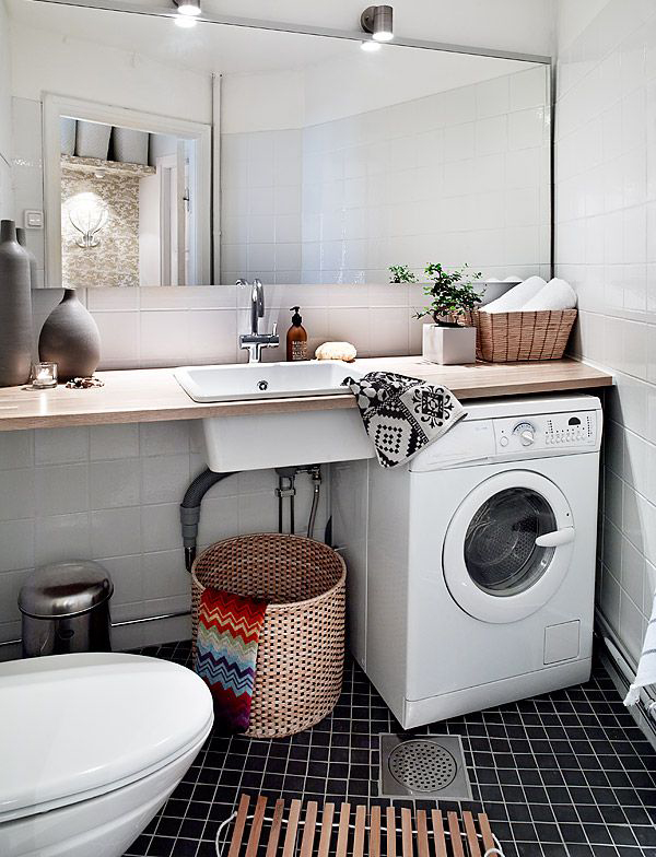 Lave Main Avec Meuble Pas Cher 20 Small Laundry With Bathroom Combinations | House Design
