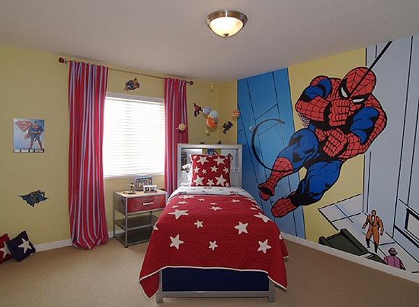 Wallpaper Persib 3d 20 Kids Bedroom Ideas With Spiderman Themed House Design