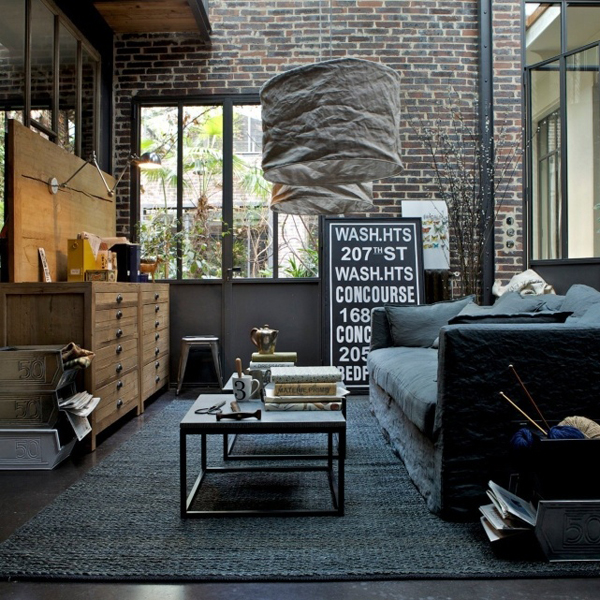 20 Inspirational Industrial Living Room Designs House Design And - industrial living room ideas