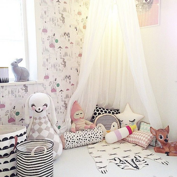 Baby Girl Nursery Removable Wallpaper 20 Creative And Cozy Reading Corner For Kids House
