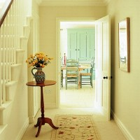 Cream hallway with occasional table   housetohome.co.uk