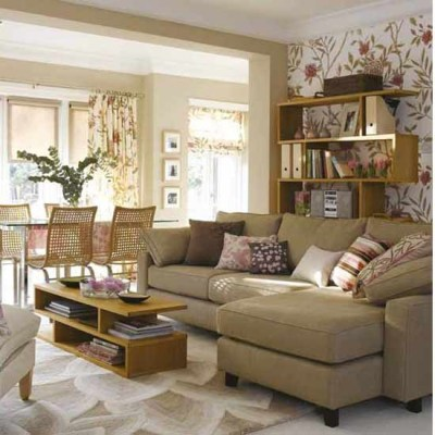 Living room with stylish wallpaper | Living room funriture | Decorating ideas | housetohome.co.uk