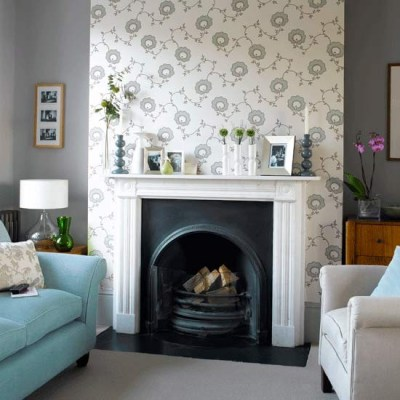 How to wallpaper a chimney breast