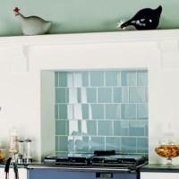 Clear glass tiles from Original Style | Kitchen ...
