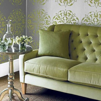 Green living room sofa | housetohome.co.uk