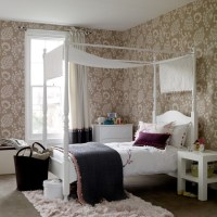 Get a grown-up look with wallpaper | Bedroom ideas for ...