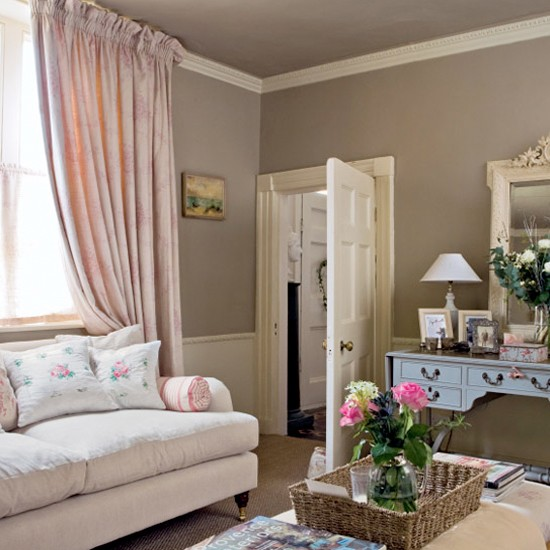 Laura Ashley Sofa Pink Pink Traditional Living Room | Living Room Ideas | Sofa
