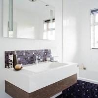 Modern bathroom with mosaic tiles | Bathroom designs ...