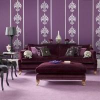Bold purple living room | Modern living room designs ...