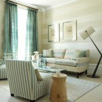 Living room with striped wallpaper | Wallpaper ideas for ...