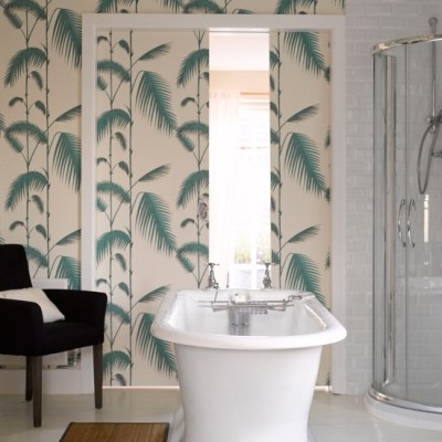 Tranquil fern print wallpaper | Bathroom wallpapers | housetohome.co.uk
