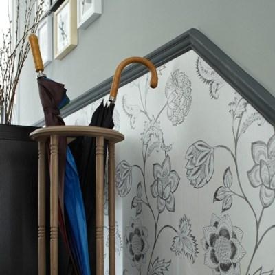 Wallpaper below the dado rail | 10 wallpaper ideas for hallways | housetohome.co.uk