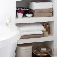 Small bathroom storage area   Bathroom shelving ideas - 10 ...