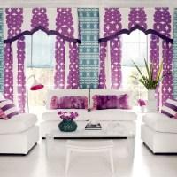 Bold purple living room | Colourful living room idea ...