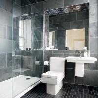 Modern charcoal-grey bathroom | Bathroom designs ...