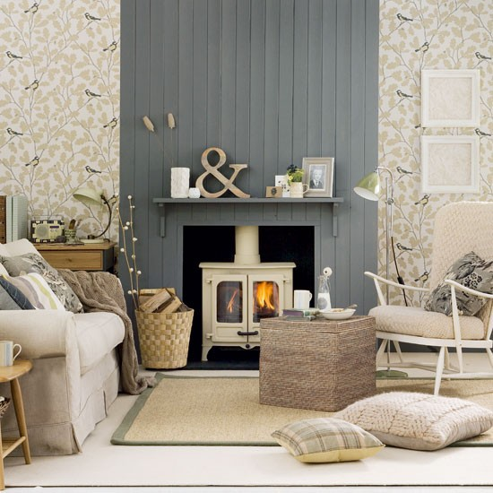 Neutral country living room