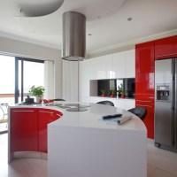 Modern red and white kitchen | Kitchen | housetohome.co.uk