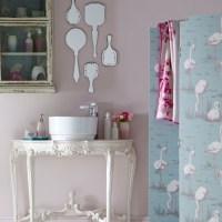 Vintage French-country bathroom | Bathroom decorating ...