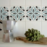 Cover up boring wall tiles | Decorate a rented space - 10 ...