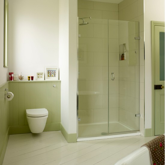 green bathroom alcove shower country decorating ideas ideal green bathrooms decorating