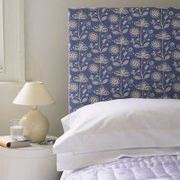 Fabric-covered headboard | Traditional bedroom ideas ...
