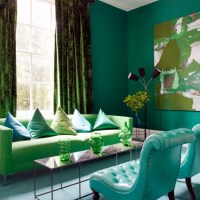 Blue and green living room | housetohome.co.uk