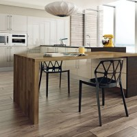 Modern kitchen with island table | Contemporary kitchen ...