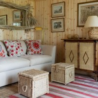 Natural wood-and-wicker living room | Small living room ...
