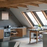 Loft kitchen with wood details   Modern kitchen design ...
