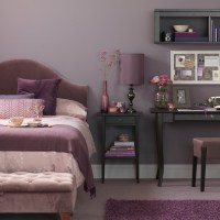 Lavender bedroom with desk | Bedroom decorating ideas ...