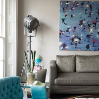 Grey and turquoise living room | Living room decorating ...