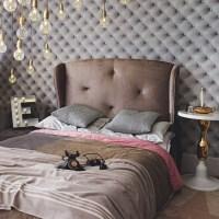 Grey velvet hotel-style bedroom | Bedroom decorating ideas ...