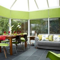 Conservatory with lime green accents | Conservatory ...