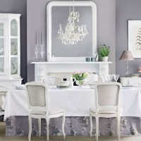 Lavender and white dining room | Dining room decorating ...