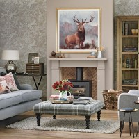 Woodland theme country living room | Living room ...