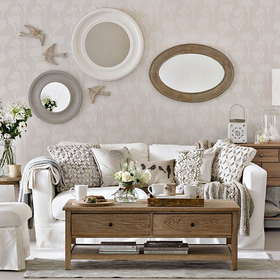 Dfs Sofa Care Ivory And Natural Wood Living Room | Living Room