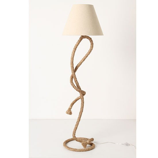 Paused rope floor lamp from Anthropologie