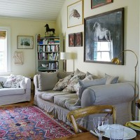Country living room with equestrian theme | Decorating ...